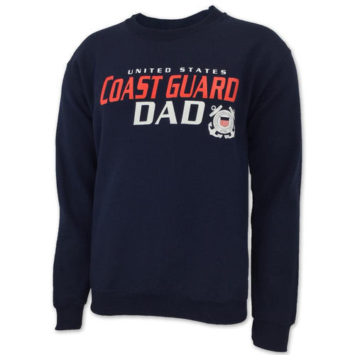 UNITED STATES COAST GUARD DAD CREWNECK (NAVY)