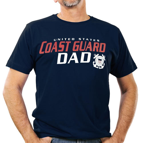 UNITED STATES COAST GUARD DAD T-SHIRT (NAVY) 5
