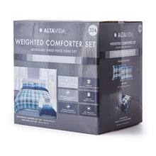 Load image into Gallery viewer, Altavida™ 20, 30, & 33 LB 3 Piece Weighted Comforter Set
