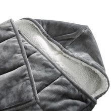 Load image into Gallery viewer, Pür Serenity 10 LB Reversible Hooded Velvet to Sherpa Weighted Throw