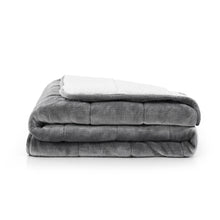 Load image into Gallery viewer, Réjuve 10 LB Solid Velvet to Sherpa Reverse Weighted Throw