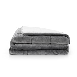 Réjuve 10 LB Solid Velvet to Sherpa Reverse Weighted Throw