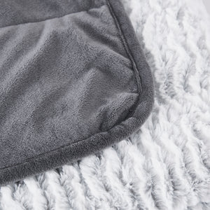 Dream Theory 10 LB Reversible Faux Fur Weighted Throw