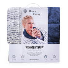 Load image into Gallery viewer, Dream Theory 10 LB Reversible Faux Fur Weighted Throw