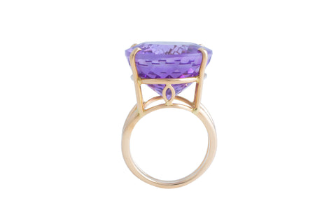 Facet Amethyst Ring - Peace