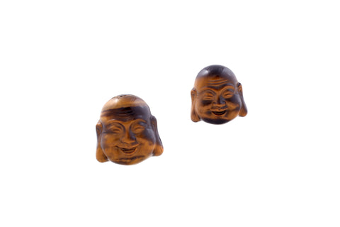 Tigers Eye Laughing Buddha - Contentment & Happiness