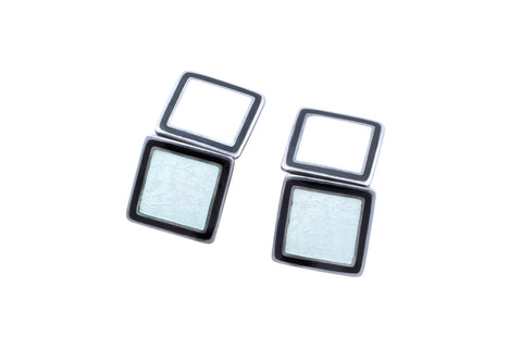 Antique Black & White Enamel Cufflinks