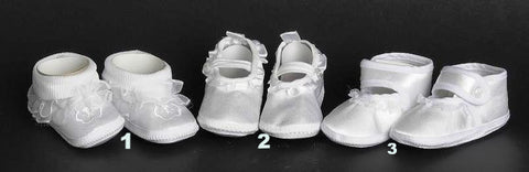 Christening Shoes #LUN - #1940-C - Growing Kids