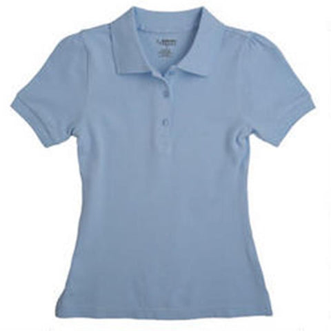 Girls Short Sleeve Stretch Pique Polo  FT-AQ9403 - Growing Kids