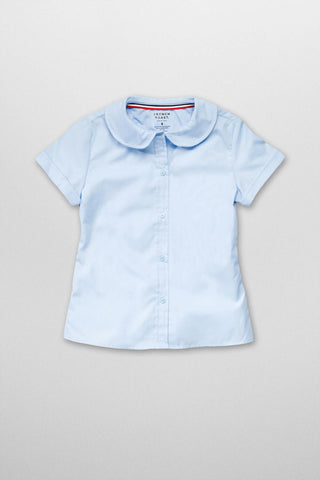 Short Sleeve Peter Pan Blouse #FT-SE9383 - Growing Kids