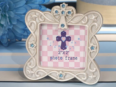 *Blessed Events Cross Design Photo Frame - Growing Kids