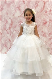 Ado-18027004	Katia OFF WHITE Floor Length Gown - Growing Kids
