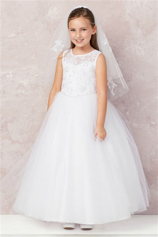 ADOR-1819904	Josefina Gown WHITE - Growing Kids
