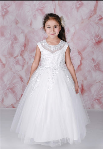 ADO-1828104	Tianna OFF WHITE Floor Length Gown - Growing Kids