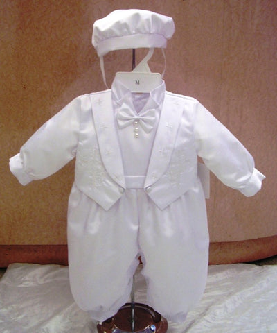 Christening Jumpsuit #FK2501 - Growing Kids