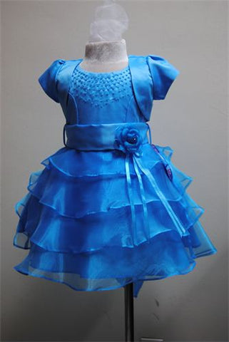 FK8026 Turquoise Dress - Growing Kids
