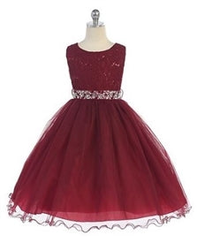Ado-340BL2	Florence Girls Dress size 2-10 in 15 Colors - Growing Kids