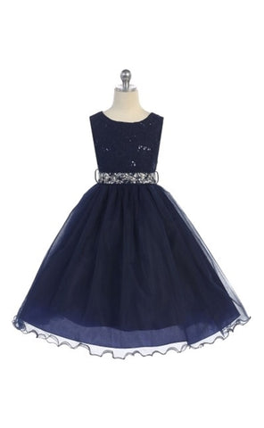 Ado-340BL2	Florence Girls Dress size 12-20 in 15 Colors - Growing Kids