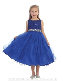 Ado-340BL2 Page 1 - Florence Girls Dress size 2-10 in 15 Colors - Growing Kids