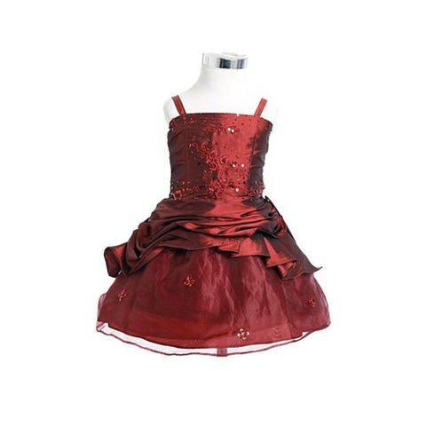 Fk8033 Burgundy Dress - Growing Kids