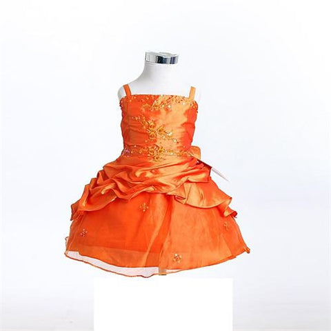 FK8033 Orange Dress - Growing Kids