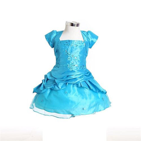 FK8033 Blue Dress - Growing Kids