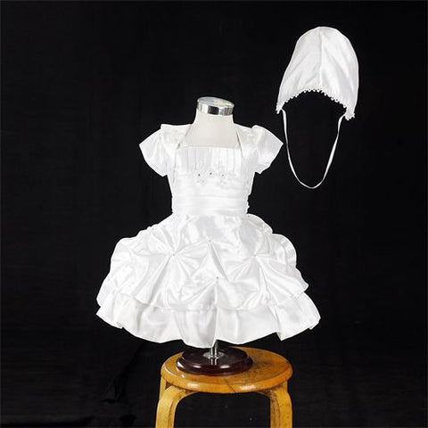 FK8087/8076 White Dress - Growing Kids