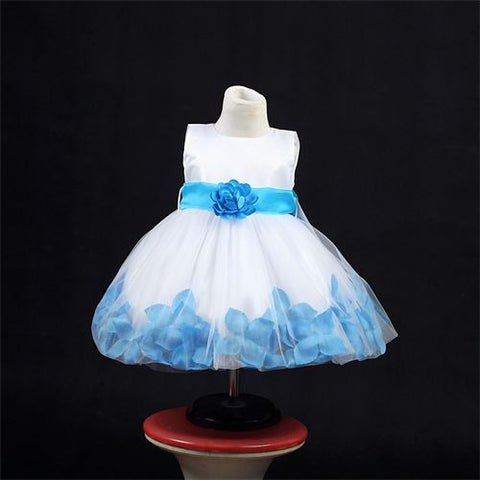 FK 8093  Blue Dress - Growing Kids