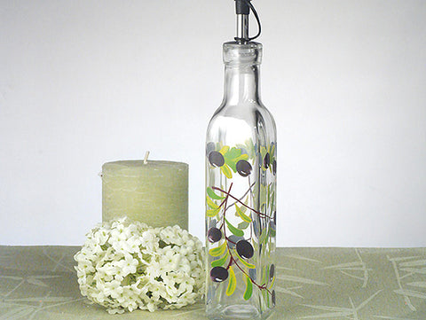*CC-861 Europa Collection Medium Oil Bottle With Olives Design - Growing Kids