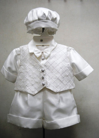 5Pcs. Christening Short Set #FK8059 - Growing Kids