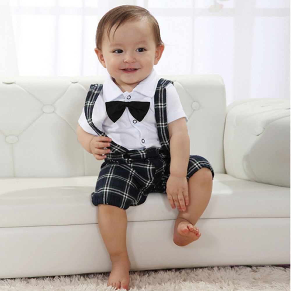 d02ba39ac787 ... Baby Boys Wedding Bow-tie Occasion Christening Tuxedo Suit Outfit +  Vest Set Age 0 ...