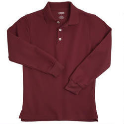 Long Sleeve Pique Polo - Growing Kids