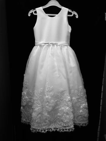 Dress #3540 White or Ivory - Growing Kids