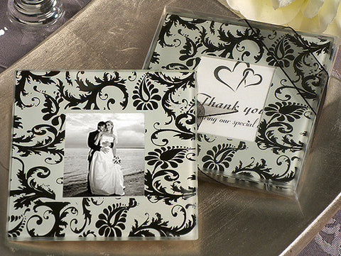 *A Classic Damask Design Photo Coaster - Growing Kids