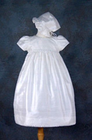 N-GG3419m-Silk Long Christening Dress - Growing Kids