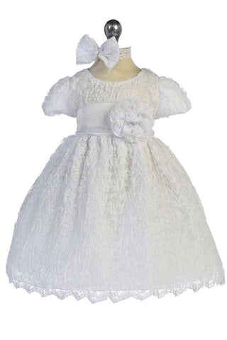 GG-3491m - Lace Christening Dress - Growing Kids