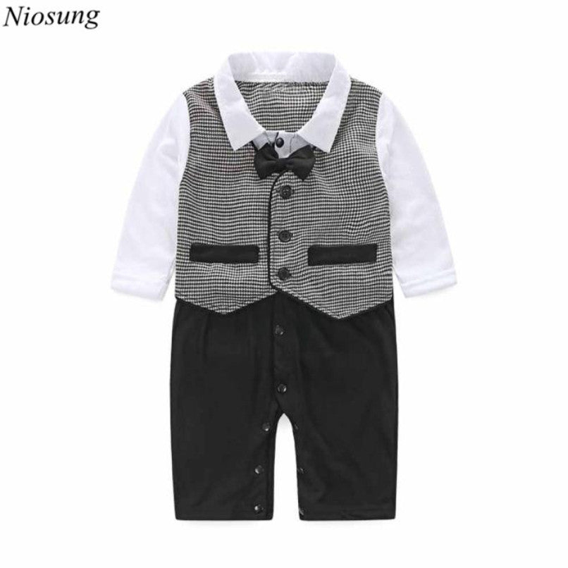 daf77b331982 Handsome Baby Boy Formal Party Long Sleeve Christening Wedding ...
