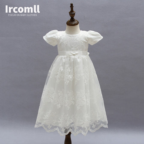 High Quality Baby Girls Princess Dress Christening Gown Dresses Infantis for Newborn Birthday Party Baptism - Growing Kids