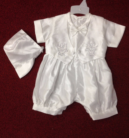 Christening short jumpsuit #FK8067 - Growing Kids