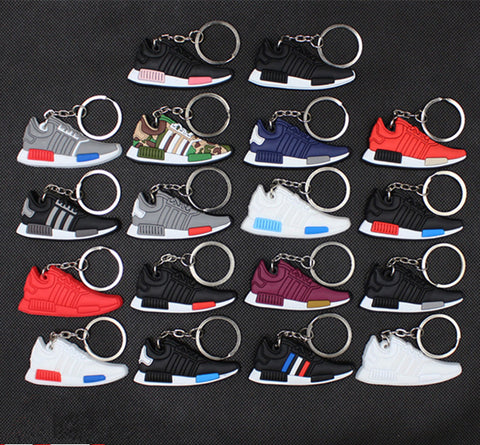 luca's Mini Silicone NMD Keychain Fashion Men and Woman Bag Charm Keyrings Pendant Trinket Car Keyring small gifts 17 colors
