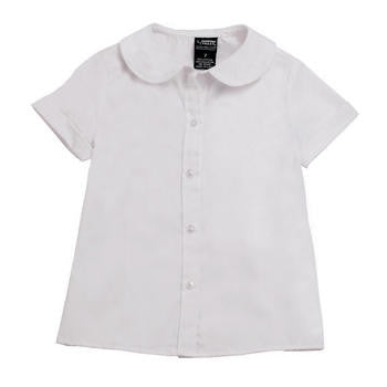 Top Short Sleeve Peter Pan Blouse #FT-SE9383 - Growing Kids