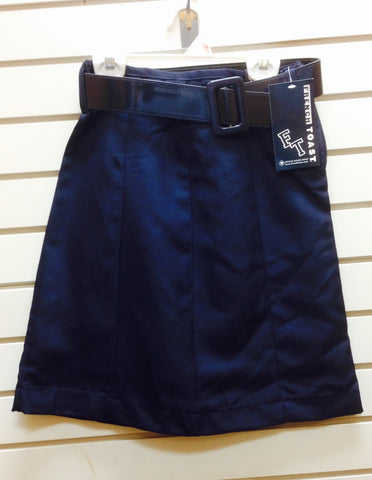 Clearance: Navy Belted Skirt - Growing Kids