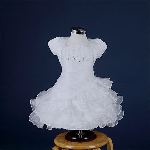 FK8090/8080  White Dress with hat - Growing Kids