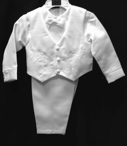 Christening Vest set w/Bonnet #Zg-1156 - Growing Kids