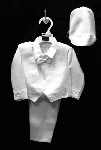 Christening Vest set w/Bonnet #Zg-1402/3000 - Growing Kids