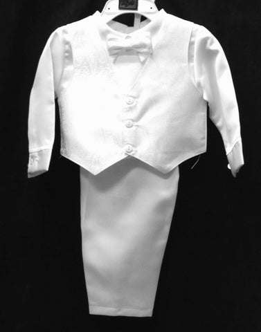 4pcs. Christening Vest set w/Bonnet #Zg-Z295 - Growing Kids