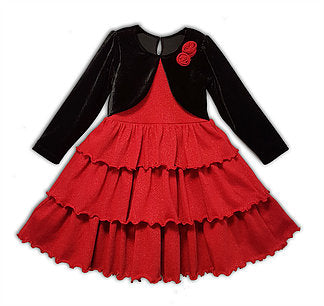 1-Dalia Red - size -12 - Growing Kids