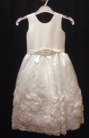 Dress #3540 White or Ivory  size 3m - 16 - Growing Kids
