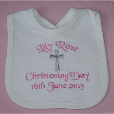 Personalized Christening Bib - Growing Kids