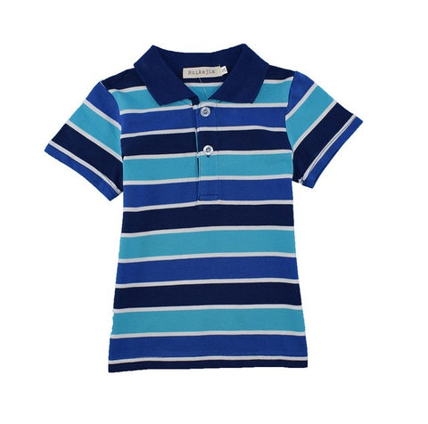 Promo: Boys casual multi colors sports t shirt summer short sleeve clothes boys top tee back to school kids polo shirts kids clothes t - Growing Kids
